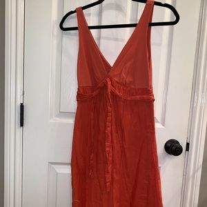 Velvet Burnt Orange Summer Dress